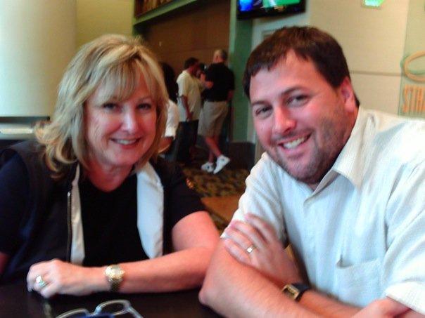 Coach Carol Mazur with Eric of the Buddy Blake Team