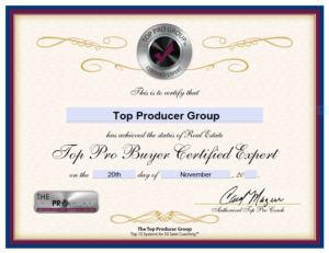 Top Producer Group Certified Buyer Expert