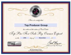 Top Producer Group Certified FSBO Expert