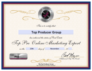 Top Producer Group Certified Online Marketing Expert
