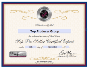 Top Producer Group Certified Seller Expert
