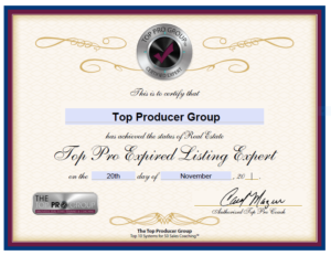 Top Producer Group Certified Expired Listing Expert